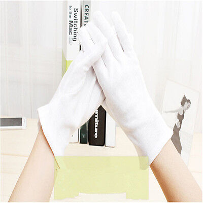 412 Pairs White Cotton Soft Thin Gloves Coin Jewelry Silver Inspection Handling