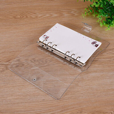 A5a6a7 Notebook Transparent Loose Leaf Ring Binder Planner Cover With 6 Hole