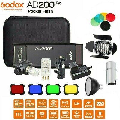 Godox AD200Pro Pocket Flash Light TTL 2.4GHSS Kit for Sony Nikon Canon Fuji DLSR