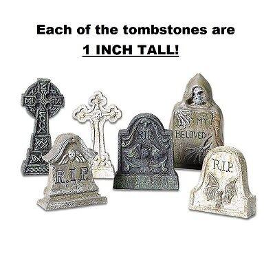 6 Tombstones Halloween Prop Spooky Decoration Haunted House Outdoor Indoor Decor - Halloween Decorations Tombstones