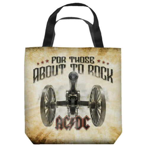 """AC-DC """"For Those About to Rock"""" 16 in x 16 in Tote Bag - New"""