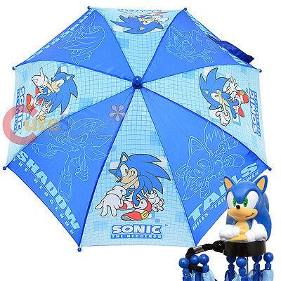 Sonic The Hodgehog Kinder Regenschirm 3D Figur Griff Schatten Schwanz Dr Eggman