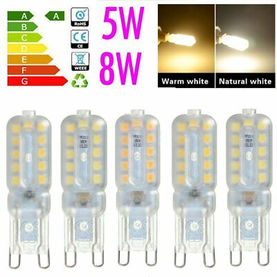10X/5X G9 8W 5W LED Dimmable Capsule Bulb Replace Light Lamps AC220-240V