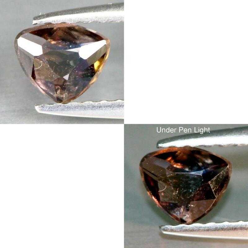 Certificate Include 0.33Cts Natural Axinite Color Change Brown Trillion Gemstone