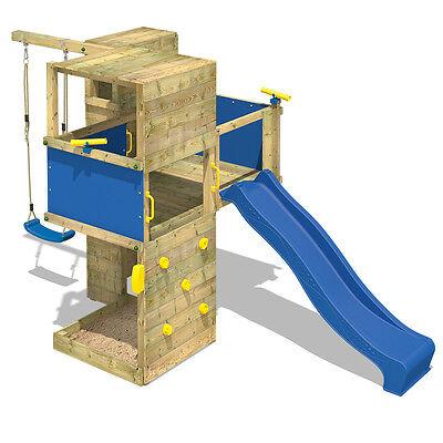 WICKEY Smart Cube Spielturm Design Holz Kletterturm Spielgerüst Garten Schaukel