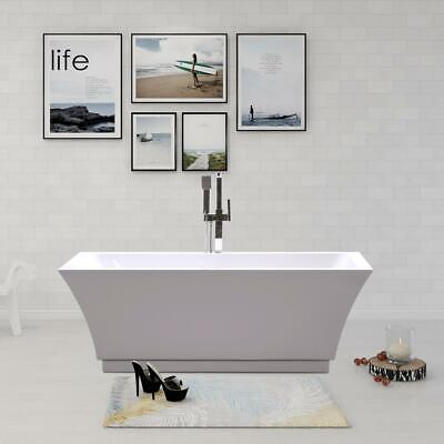 "Brand New Vanity Art Strasbourg 59"" Acrylic Flatbottom Freestanding Bathtub"