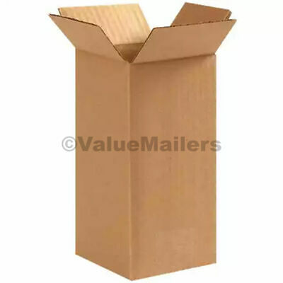 4x4x8 Cardboard Shipping Boxes Cartons Packing Moving Mailing Box 50 100 400