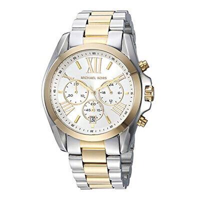 Michael Kors MK5627 Bradshaw Chronograph Dial Analogue Silber Gold-Ton Damenuhr