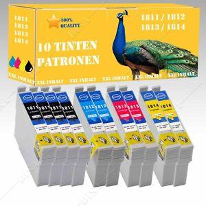 10x-No-Originales-Compatible-Tinta-para-Epson-Home-xp-225-xp-30-xp-302-re017