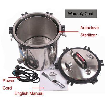 110v 18l Steam Autoclave Sterilizer Dental Pressure Sterilization Dual Heating