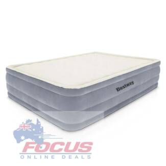 Bestway Queen Inflatable Air Mattress Bed w/ Built-in Electric Pu