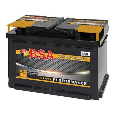 Batterie BSA Autobatterie 12V 77Ah 750A/EN ersetzt 68AH 70AH 72AH 74AH 75AH 80AH