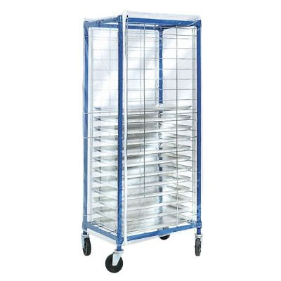 Coverall Worcester Side Load Pan Rack Cover Clear Vinyl - 28l X 23w X 64h