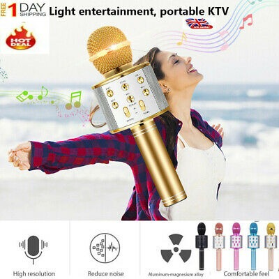 WS-858 Handheld Wireless Bluetooth Microphone Karaoke KTV Party Mic USB Player E