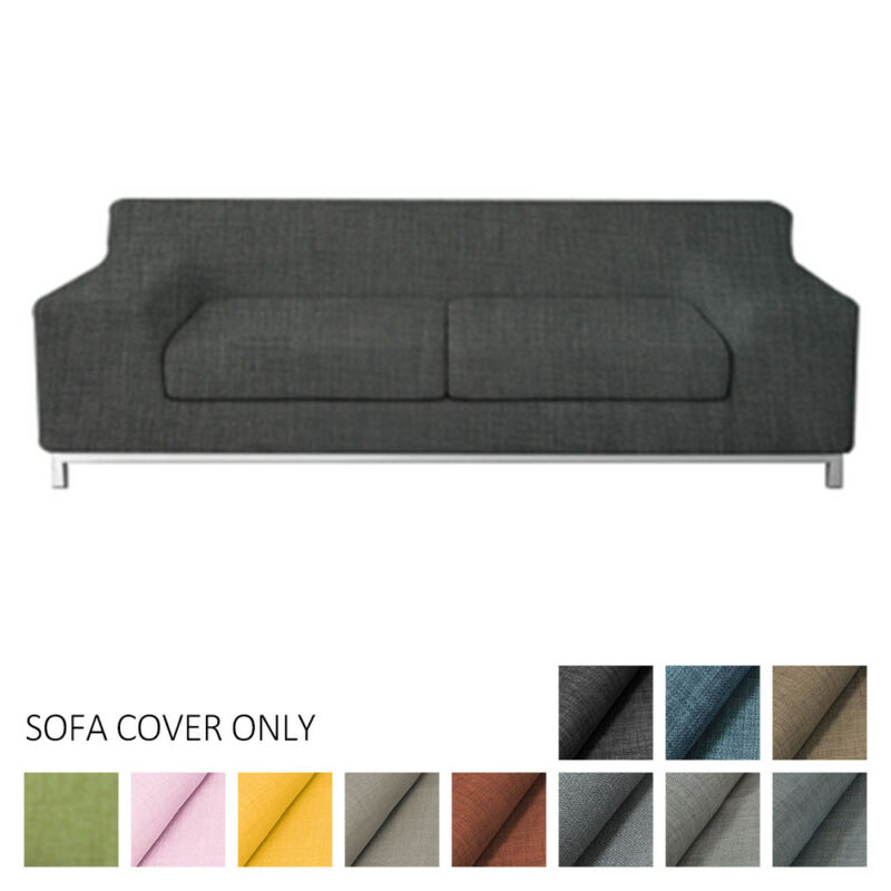 For Kramfors Three-Seater Slipcover Cushion Sofa Cover Solid