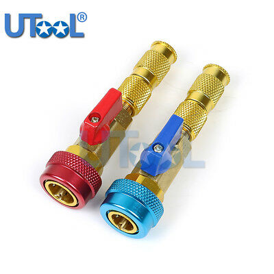 R134/R12 A/C Air Conditioning Valve Core Remover Installer High Low Coupler Tool