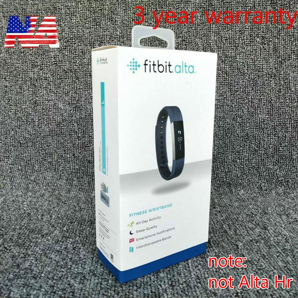 NEW Fitbit Alta Fitness Wristband Activity Tracker Black/Blu