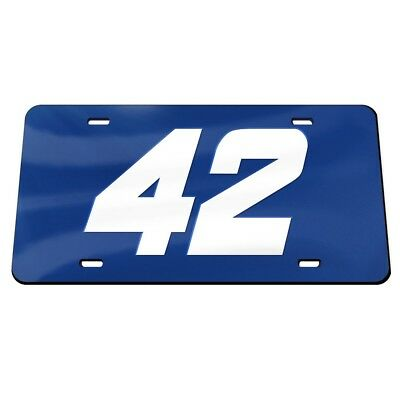 Kyle Larson 2018 Wincraft #42 Blue Crystal Mirror License Plate FREE SHIP! ()