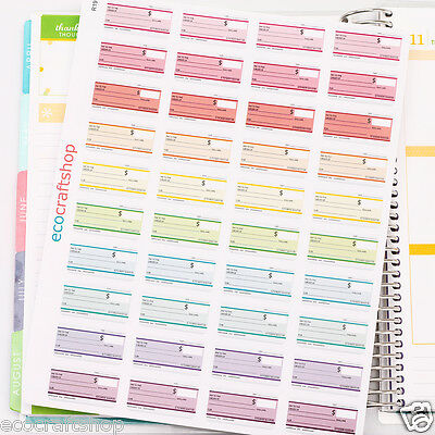 MONTHLY WEEKLY PAY DAY BILL DUE DATE CHECK Condren EC Erin Planner Stickers R19