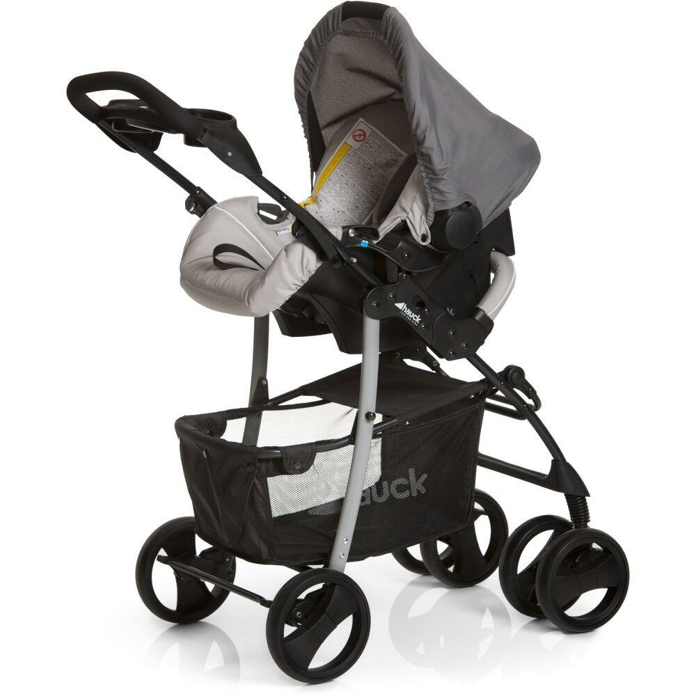 new hauck shopper slx trio travel system pushchair carrycot carseat stone grey eur 171 34. Black Bedroom Furniture Sets. Home Design Ideas