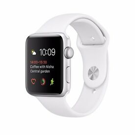 APPLE WATCH SERIES 2 38MM SILVER ALUMINIUM WITH WHITE SPORT BAND - NEW & SEALED