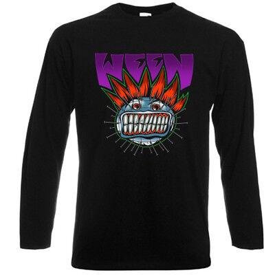 WEEN Halloween Logo Rock Band Tour Concert Long Sleeve Black T-Shirt Size S-3XL - Halloween Band Tour
