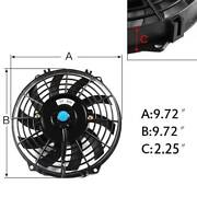 """9"""" 12V Universal Electric Cooling Fan Thermo Fan  Mounting Kit Laverton North Wyndham Area Preview"""