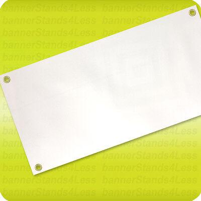 Blank Vinyl Banner Sign, 13oz White with Grommets 2x4 ft