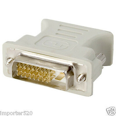 Dvi D Male To Vga Female (DVI-D Digital Dual Link male 24+1 to VGA female adapter FastShip From)