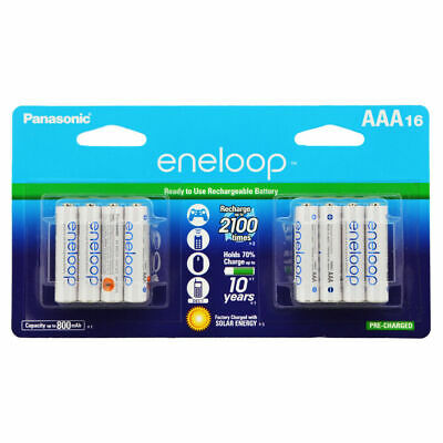 Panasonic eneloop AAA Rechargeable Batteries 2100 Cycle Ni-MH Pre-Charged, 16 Pk for sale  Morrisville