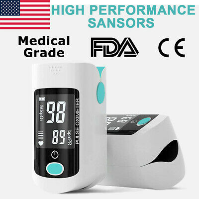 Finger Tip Pulse Oximeter Meter Blood Oxygen Saturation Heart Rate Monitor Spo2