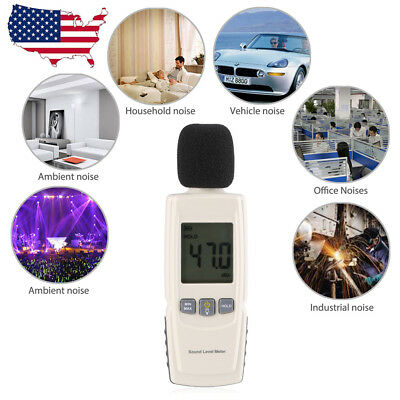 Digital Lcd Sound Decibel Meter Pressure Noise Level Tester Measurement 30130db