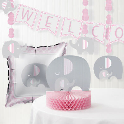 Little Peanut Girl Elephant Baby Shower Decorations Kit