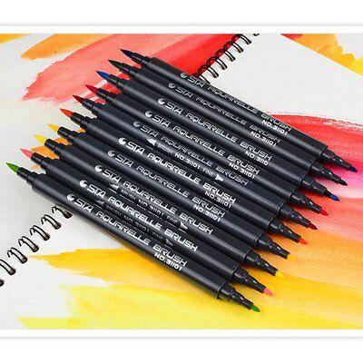 10 x Pinselstift - Dual Brush Pen - Wasserfarbenstifte - Doppelspitze No. 31101
