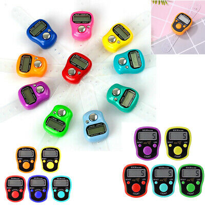 099999 Lcd Digital Electronic Golf Finger Hand Ring Knitting Row Tally Counter