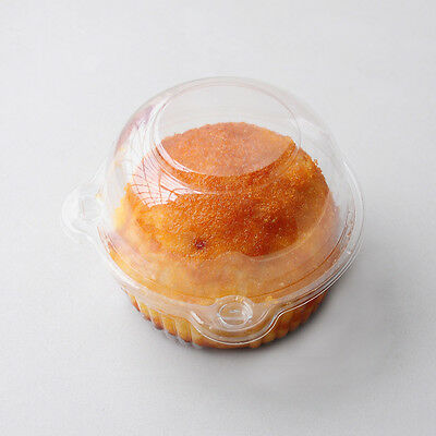 Clear Transparent Take-out Jumbo Cupcake Box Holder BPA-Free Container