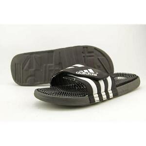 b6df4a749422 adidas Adissage Men s Slides - Size 13 - Black White for sale online ...