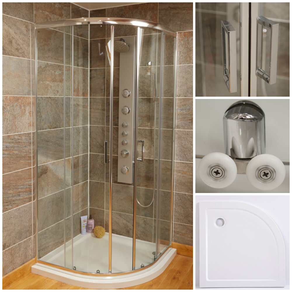 Maestro bath slide front page - 900 X 900 Quadrant Shower Enclosure Sliding Doors Thick Glass With Shower Tray