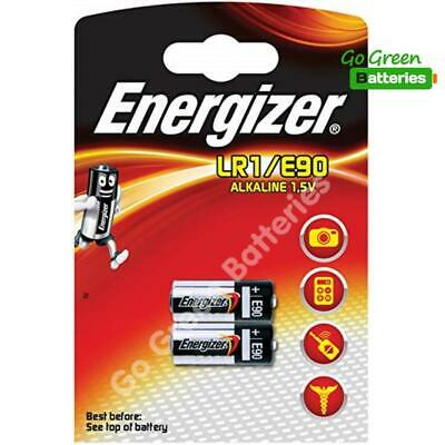 2 x Energizer LR1 MN9100 1.5V Alkaline Batteries 910A E90 KN AM5 Security Remote