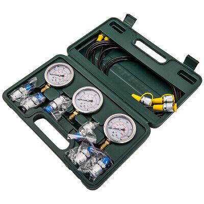 Diagnostic Pressure Tester Gauge Couplings Hydraulic Hose Kit Excavator 9000 Psi