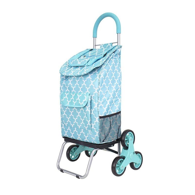 dbest products Portable Folding Stair Climber Trolley Dolly Cart, Moroccan Tile
