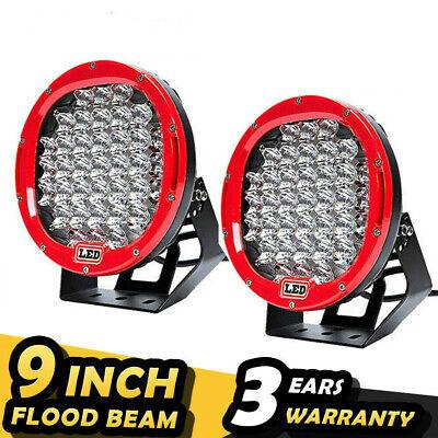 "2Pcs 96W 9"" Round Cree LED Driving Spot Lights UTE Car Truck SUV ATV OffRoad UK"