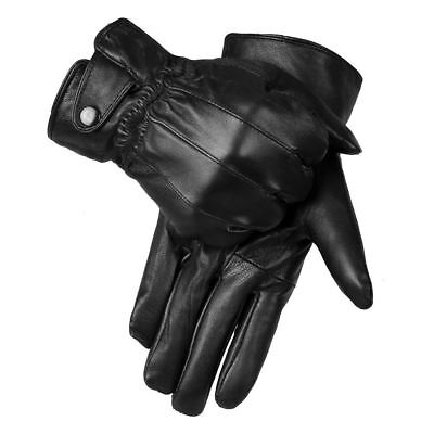 Real Thermal (MENS REAL LEATHER GLOVES THERMAL THINSULATE LINED DRIVING SOFT WARM WINTER Xmas)