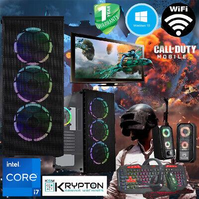 ULTRA Gaming PC Bundle Intel Core i7 16GB 512GBSSD+1TB Win10 GTX 1650...
