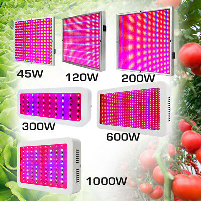 120w Licht Lampe (45W 120W 200W 300W 600W 1000W Voll Spektrum LED Wachsen Licht Pflanzenlampe DE)