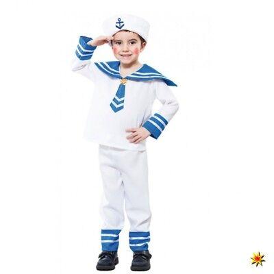 Kostüm Matrosen Junge Gr. 92/98 Hemd, Hose, Mütze Matrose (Kinder Matrosen Kostüm)