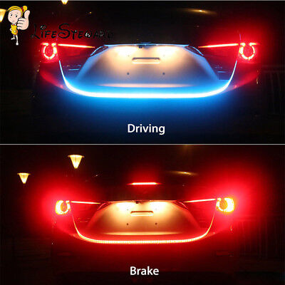 """59"""" 4 Colors Flowing LED Strip Car Tailgate Turn Signal Lights Trunk Strips Lamp, used for sale  Shipping to Canada"""