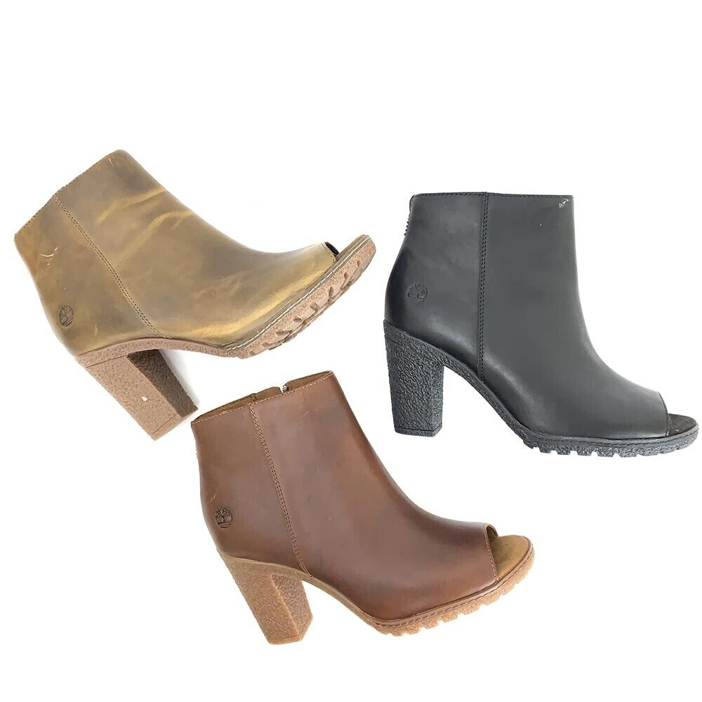 Timberland Women's Peep Toe Heeled Boots (You Pick Color)