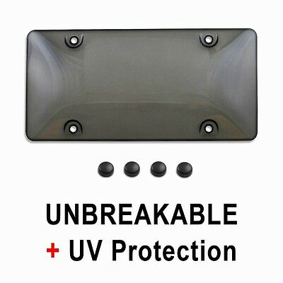 (Tinted Smoke License Plate Tag Frame Cover Shield Protector for Auto-Car-Truck)