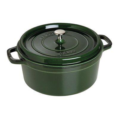 Staub 1102885 Cast Iron Round Cocotte Oven, 7 quart, (Cast Iron Round Cocotte)